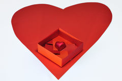 A chocolate in origami box Stock Image
