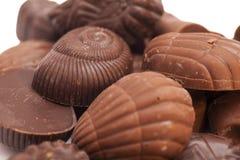 Chocolate oscuro delicioso aislado Fotografía de archivo