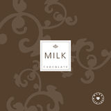 Chocolate package design element. Royalty Free Stock Photos