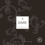 Chocolate package design element. Royalty Free Stock Image