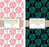 Chocolate packaging design with flowers. Stock Photography