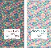 Chocolate packaging design. Mosaic seamless pattern. Stock Images