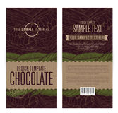 Chocolate packaging design Stock Image