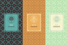 Chocolate packaging vector illustration