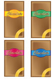 Chocolate in packing with coloured labels Royalty Free Stock Photography