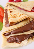 Chocolate pancake Stock Photo