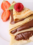 Chocolate pancake Royalty Free Stock Photos