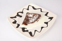 Chocolate pancake with homogenized cheese Stock Photo