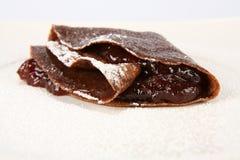 Chocolate pancake with jam Royalty Free Stock Image