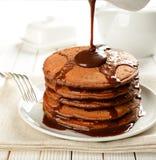 Chocolate pancakes Royalty Free Stock Photo
