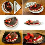 Chocolate pancakes dessert royalty free stock image