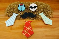Chocolate pancakes on table. stock photos