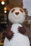 A chocolate panda was installed in the shop window of a bakery in Vendome (France) Stock Image