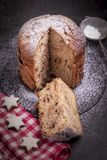Chocolate panettone. royalty free stock photo