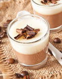 Chocolate Panna Cotta Royalty Free Stock Images