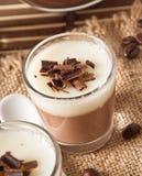 Chocolate Panna Cotta Royalty Free Stock Photography