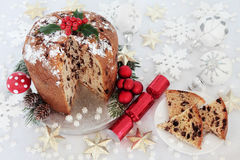 Chocolate Pantettone Christmas Cake Royalty Free Stock Image