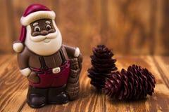 Chocolate Papai Noel Fotografia de Stock