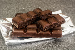 Chocolate para cocer, confitería, decoración Fotografía de archivo libre de regalías