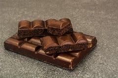 Chocolate para cocer, confitería, decoración Imagen de archivo