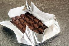 Chocolate para cocer, confitería, decoración Foto de archivo