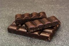 Chocolate para cocer, confitería, decoración Fotos de archivo