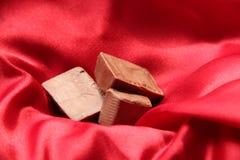 Chocolate para la tarjeta del día de San Valentín Foto de archivo