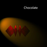 Chocolate para los adv ilustración del vector
