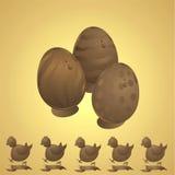 Chocolate pascua Fotos de archivo libres de regalías