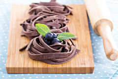 Chocolate pasta Royalty Free Stock Images