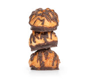 Chocolate pastry biscuits Stock Photography