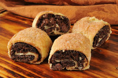 Chocolate pastry rolls Stock Photography