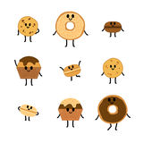Chocolate Pastry vector collection Stock Images
