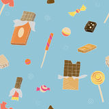 Chocolate pattern. Seamless pattern with chocolate, candies and sweets Royalty Free Stock Photos