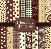 Chocolate patterns. Vector illustration of different patterns Stock Image