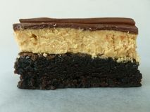 Chocolate Peanut Butter Brownie Stock Photos