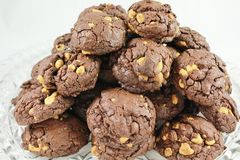 Chocolate Peanut Butter Chip cookies Stock Images