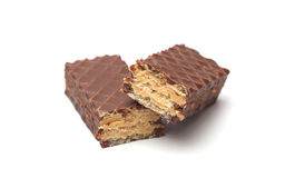 Chocolate Peanut Butter Wafer Cookies Stock Photography