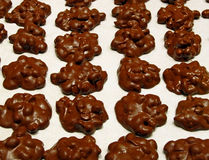 Chocolate Peanut Clusters. Delicious Chocolate Peanut Clusters handmade for a local Bake Sale royalty free stock photography