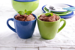 Chocolate and peanut microwave cakes Royalty Free Stock Photo