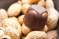 Chocolate and peanuts Royalty Free Stock Photography