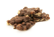 Chocolate peanuts Stock Photography