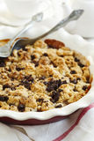 Chocolate pear crumble Royalty Free Stock Images