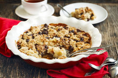 Chocolate pear crumble Royalty Free Stock Photos