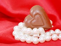 Chocolate and Pearls Royalty Free Stock Photography