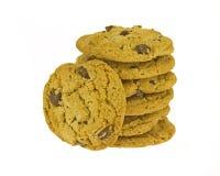 Chocolate Pecan Cookies Stock Photo