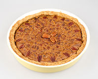 Chocolate pecan pie Stock Image