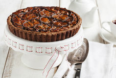 Chocolate Pecan Pie Stock Photos