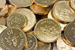 Chocolate Pennies  Royalty Free Stock Photography