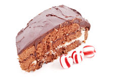 Chocolate Peppermint Cake Royalty Free Stock Photo